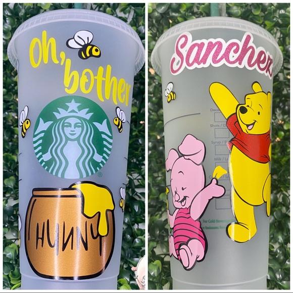 Custom Winnie the Pooh Starbucks cup